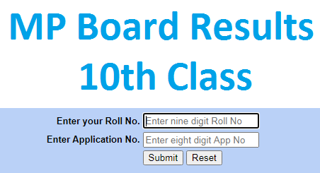 MP Board 10th Result Name Wise 2021